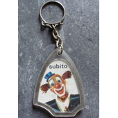 Porte Cl�s ( Cl� / Clef - Keyring ) Publicitaire Ancien En Plastique : Clown Subito / Collection