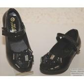 Chaussure Fille Mariage Bapt�me C�r�monie Noeud Satin Et Strass Pierre-Cedric !! Pointures 25 Au 36-Semelle Antid�rapante-Fermeture Par Scratch Velcro ! Expedition En 24/48hrs