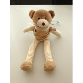Doudou Peluche Ours Caramel Playkids Ray� Marron Beige Pm.35 Cm
