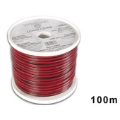 Bobine de cable Haut Parleur 2X1.5mm 100m Rouge-Noir