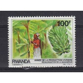 Rwanda 1985 : Ann�e De La Production Vivri�re : Bananiers - Timbre Neuf **