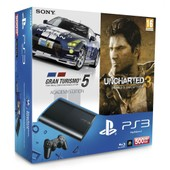Pack Ps3 500 Go + Gran Turismo 5 Academy + Uncharted 3 & Guide Collector Offert!
