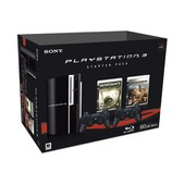 Sony Playstation 3 Black Starter Pack - Console Ps3 60 Go + 2 Manettes Sans Fil (Sixaxis) + 2 Jeux (Motor Storm Et Resistance - Fall Of Man)