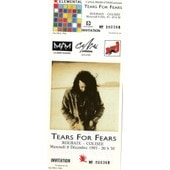 Ticket Unused De Tears For Fears