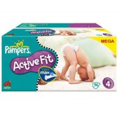 Pack Couches Pampers Active Fit Taille 4 T4 X 96 Couches De 7 � 18 Kilos