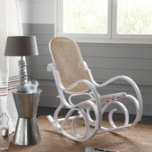 Rocking Chair Cann� Blanc