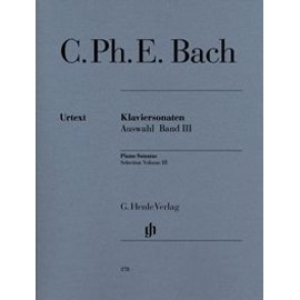 CPE Bach : Sonates choisies pour piano, volume 3