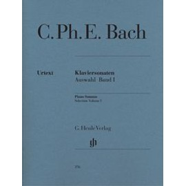 CPE Bach : Sonates choisies pour piano, volume 1