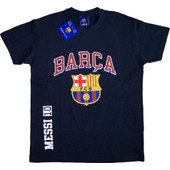 T-Shirt Lionel Messi - Collection Officielle Fc Barcelone - Barca - Fc Barcelona - Tee Shirt Mode Football Adulte Homme