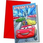 Cars Disney Invitations Anniversaire Fete Cartes Faire-Part Enfant
