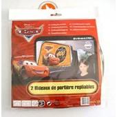 Auto - 2 Rideaux De Porti�re Repliables - Disney - D�cor Cars - 67x 37 Cm - F013611