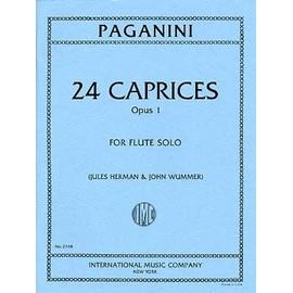 Paganini : 24 caprices pour flûte solo