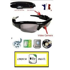 Lunette Camera Hd-Espion-Photo Et Video 1280*960-Micro Carte Sd 8 Go Inclus