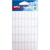 Agipa Etiquettes Multifonctions 16 X 22 Mm Blanches