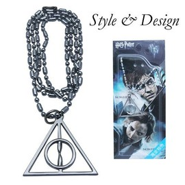 Collier Chaine Triangle Argent Les Reliques De La Mort Harry Potter