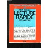 Methode De Lecture Rapide Richaudeau. de RICHAUDEAU F ET GAUQUELIN M ET F.