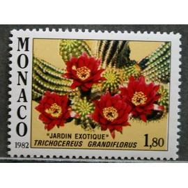MONACO 1982 N° 1339 JARDIN EXOTIQUE, fleur : TRICHOCEREUS GRANDIFLORUS NEUF