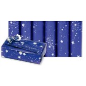 1 Rouleau Ou 10 Rouleaux Papier 'ciel Etoile', Faisant Le Rouleau 0.7 X1.5 M. Papier Cadeaux Decos Noel
