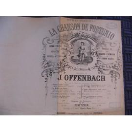 """""""La Chanson de Fortunio"""" partion piano et chant (Offenbach)"""