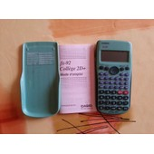 Calcul Casio Fx92 College 2d+ Calculatrice Casio Fx92 Coll�ge 2d+