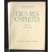 Andr� Maurois Oeuvres Compl�tes Tome Xii (Tome 12) : Histoire De La France de Andr� Maurois