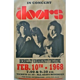 THE DOORS avec JIM MORISSON EN CONCERT AFFICHE