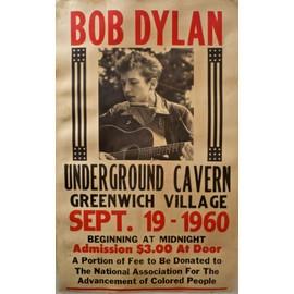 Bob dylan affiche de concert