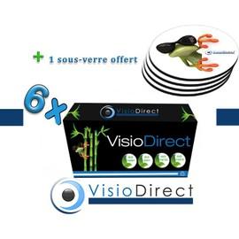 6 Toner Cartouche D'encre Laser Noir S1042scon 1500 Pages Certifi� Iso 14001 + Sous Verre Offert - Visiodirect -