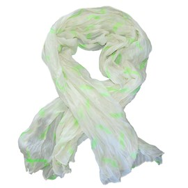 Foulard Moustaches Blanc/Vert,Froiss�,Mustache Scarf,Ch�che,!Top Mode �t� 2013!