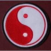 Patch Rouge Thermocollant Ecusson � Coudre Yin Yang Coree Korea Taoisme Taijitu
