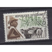Dahomey 1963 : Type Local : Peuhl - Timbre Oblit�r�