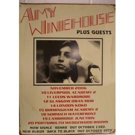 plaque publicitaire affiche amy winehouse