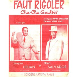 HENRI SALVADOR & JACQUES HELIAN PARTITION FAUT RIGOLER
