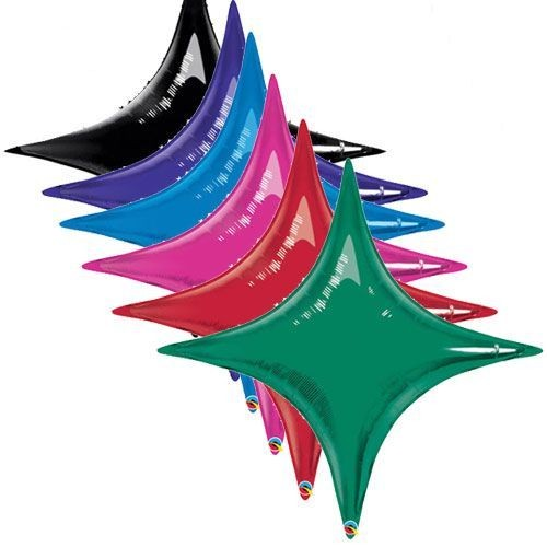 Ballon mylar Etoile design 20 starpoint couleur noir