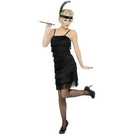 Fringe Flapper Costume, Female Uk Dress 8-10