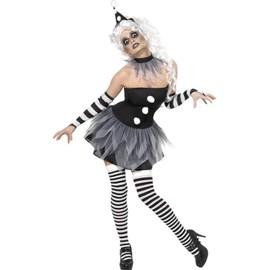 Sinister Pierrot Costume, Female Uk Dress 8-10