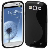 Housse Etui Coque Silicone Gel Noir Pour Samsung I9300 Galaxy S3 + Film �cran