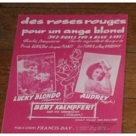 partition lucky blondo audrey arno des roses rouges pour un ange blond