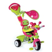 Tricycle Enfant Baby Driver Confort Fille + Ombrelle Smoby