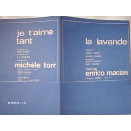enrico macias // la lavande // michele torr // je t'aime tant