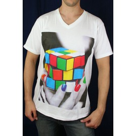 T-Shirt Rubik's Cube Graphisme Original Design Fashion Raw Uncut