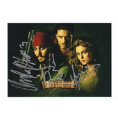 Autographe Pirates Des Cara�bes Johnny Depp Orlando Bloom Keira Knightley Rare Coa