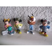 Lot De 4 Figurines De Mickey, Dingo, Minnie Bully