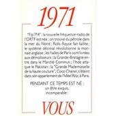 1971 Principaux �v�nements De L'ann�e. Carte D'anniversaire