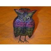 Hibou/Chouette Metal Photophore Deco Collection Bougie