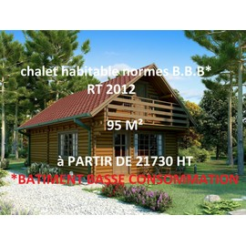 chalet habitable d 39 occasion 33 vendre pas cher. Black Bedroom Furniture Sets. Home Design Ideas