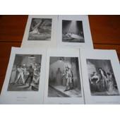 5 Gravures Sur Acier Xix�me(Vers 1860):/ Illustrations P�ur