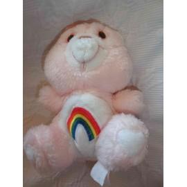 Doudou Bisounours En Peluche Vintage Kenner 1983 Care Bear Rose Arc En Ciel 18 Cm