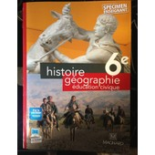 Manuel Histoire G�ographie �ducation Civique 6�me de Fr�d�ric Fouletier - Anne Philippon