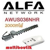 Carte cl� USB adaptateur Wifi Alfa AWUS036NHR 2000W Antenne 5dBi + antenne 16dBi